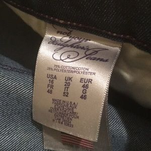 NYDJ Jeans - Not Your Daughter's Jeans Dark Flare. Size 16.